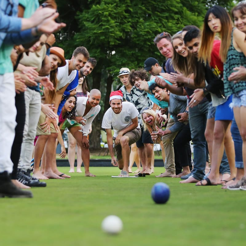 barefoot bowls every Sunday Gold Coast